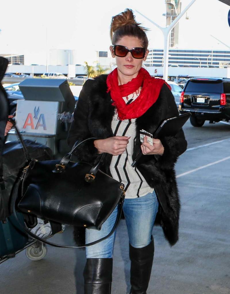 Ashley Greene at LAX Airport 12/29/2015-2
