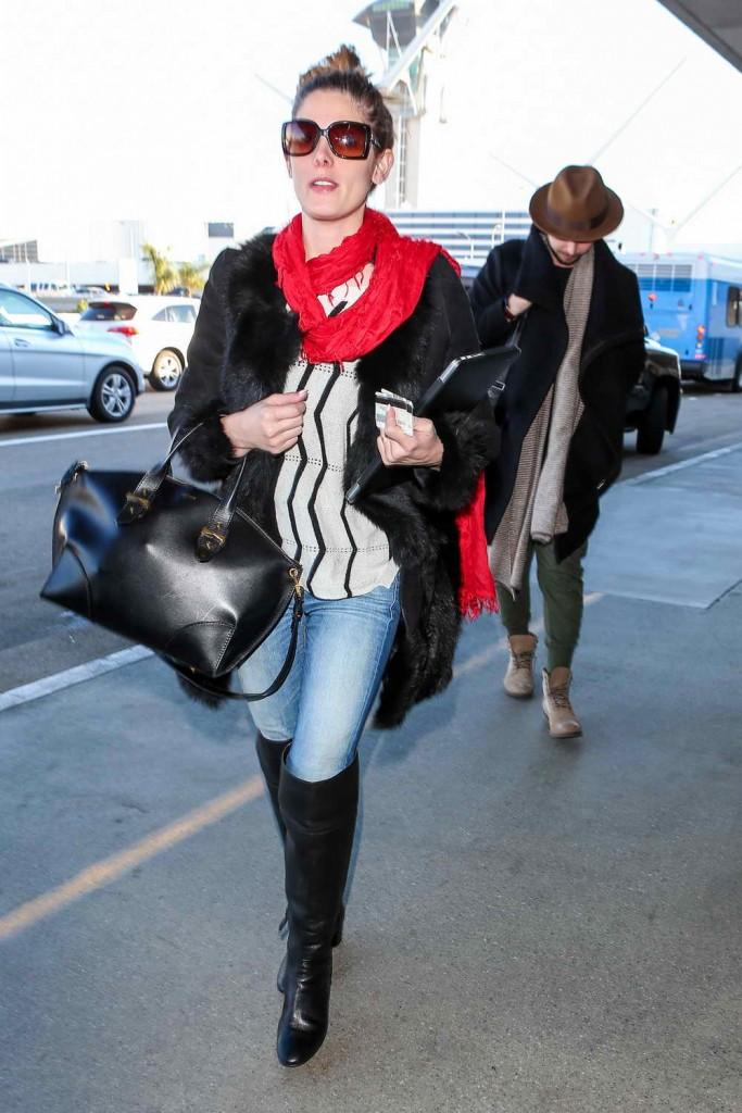 Ashley Greene at LAX Airport 12/29/2015-4