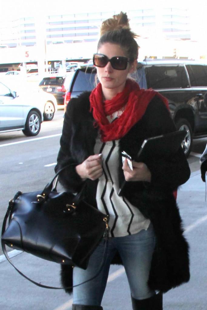 Ashley Greene at LAX Airport 12/29/2015-5