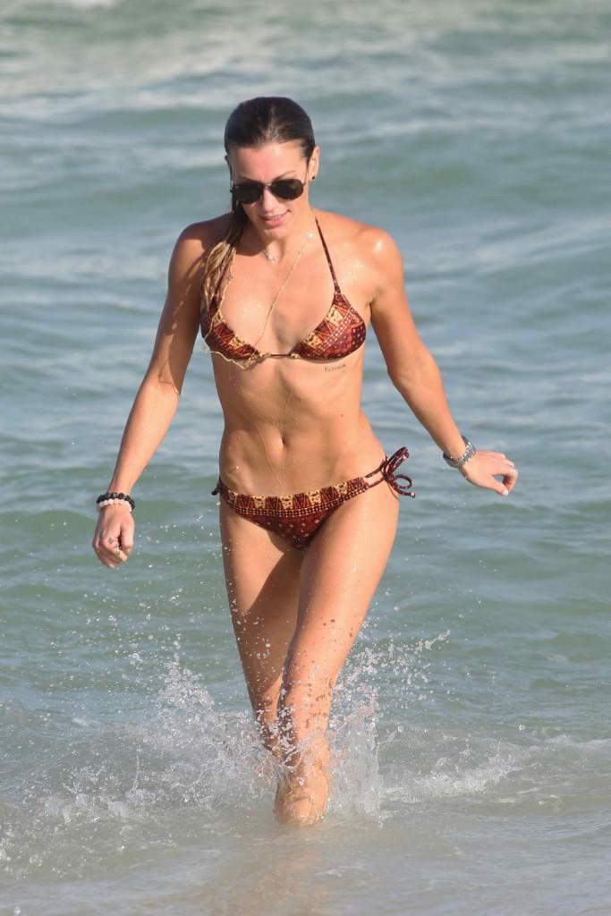 Katie Cassidy in Bikini at the Beach in Miami 12/28/2015-2