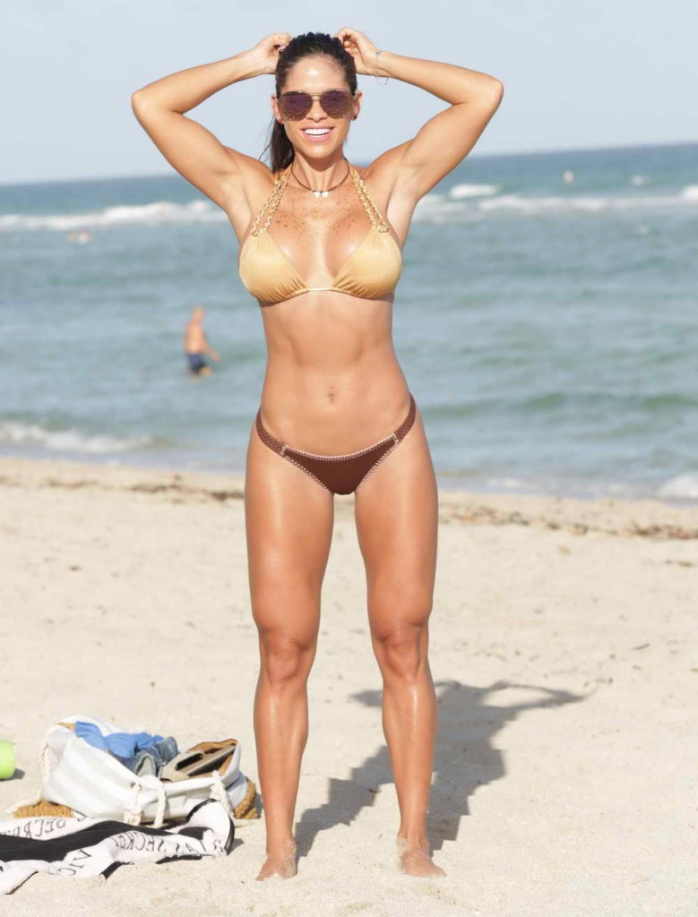 Michelle Lewin in Bikini at the Beach in Miami 12/28/2015-1