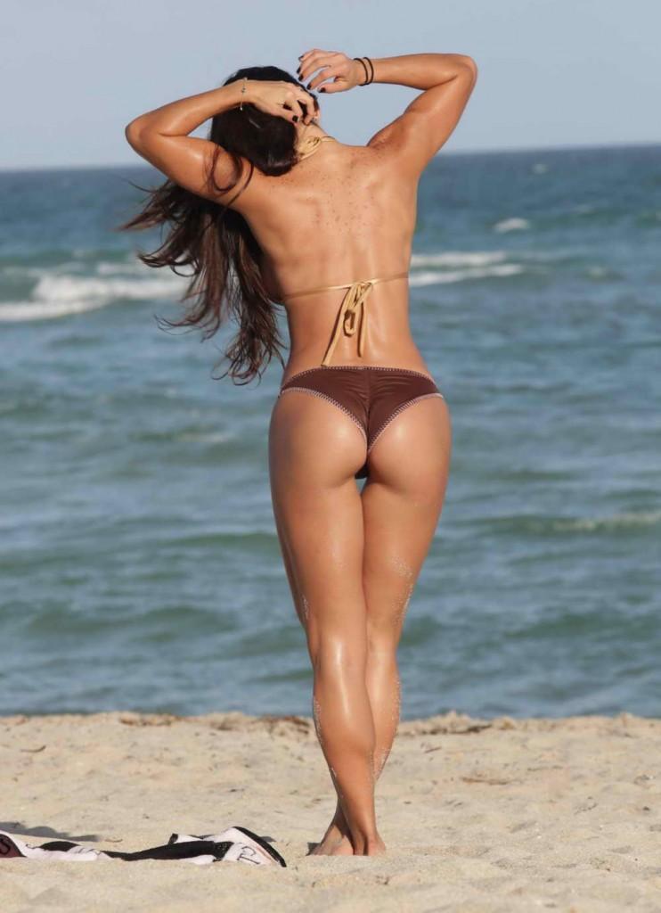 Michelle Lewin in Bikini at the Beach in Miami 12/28/2015-2