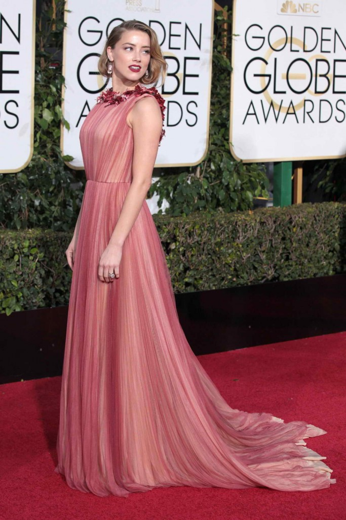 Amber Heard at 73rd Annual Golden Globe Awards in Beverly Hills 01/10/2016-1