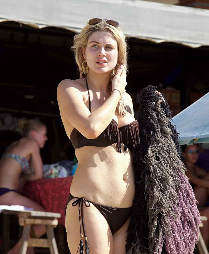 Ashley James in Bikini at the Beach in Bali 01/05/2016-3