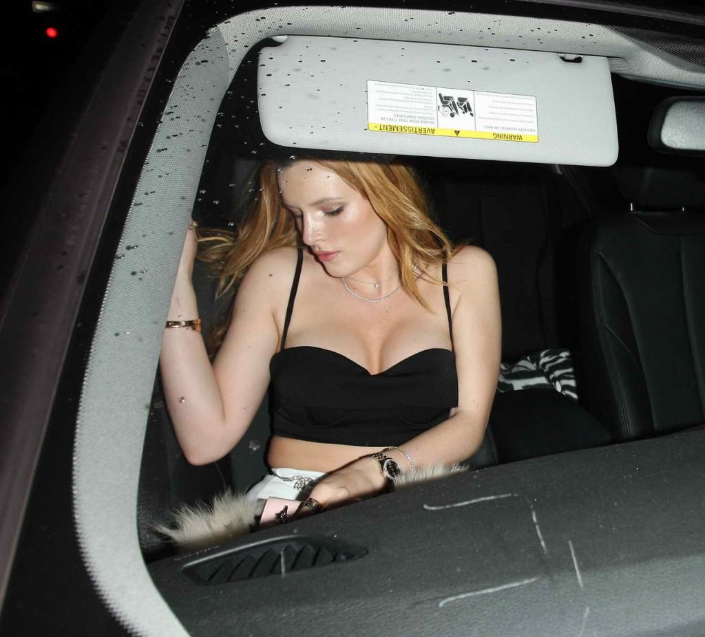 Bella Thorne Leaving a Party in Los Angeles 01/06/2016-3