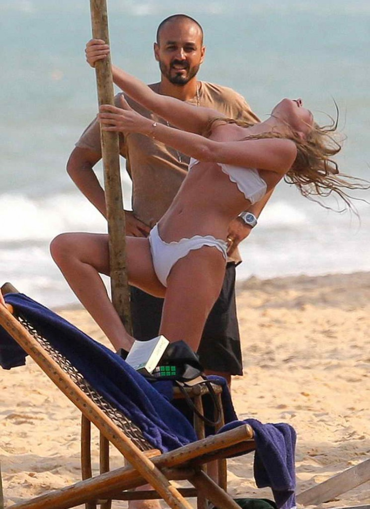 Elsa Hosk in Bikini at the Beach in Brazil 01/03/2016-3
