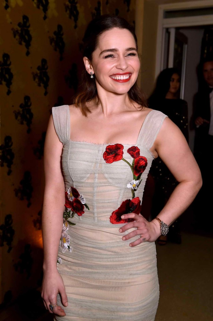 Emilia Clarke at HBO's Post 2016 Golden Globe Awards Party in Los Angeles 01/10/2016-1