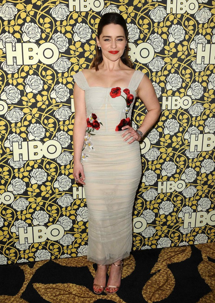Emilia Clarke at HBO's Post 2016 Golden Globe Awards Party in Los Angeles 01/10/2016-4