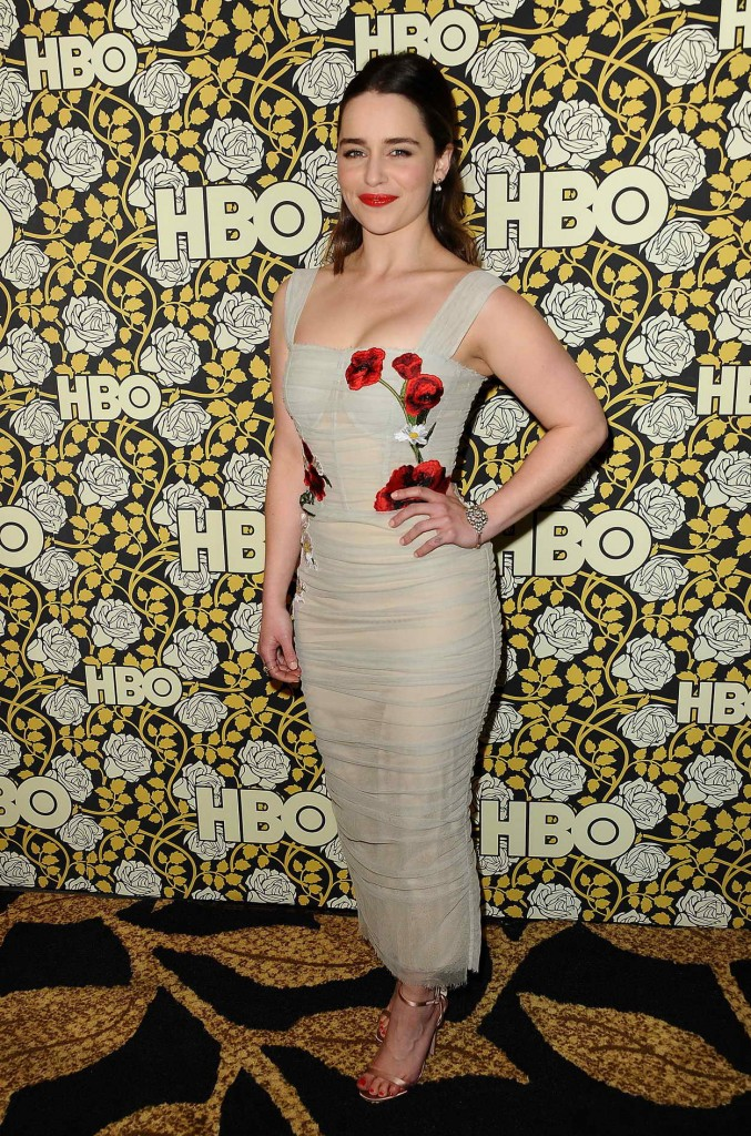 Emilia Clarke at HBO's Post 2016 Golden Globe Awards Party in Los Angeles 01/10/2016-5