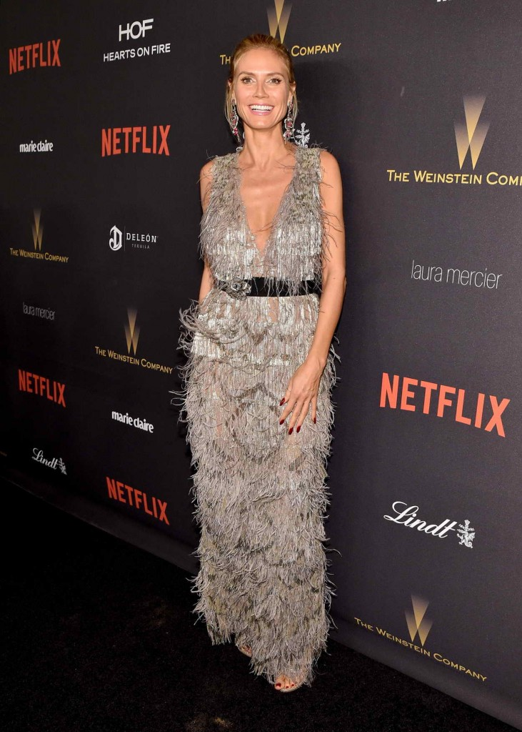 Heidi Klum at the Weinstein Company and Netflix Golden Globe Party in Beverly Hills 01/10/2016-1
