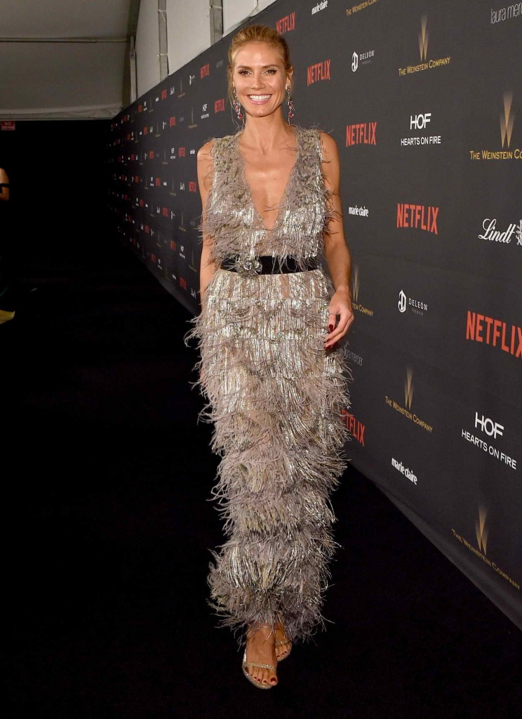 Heidi Klum at the Weinstein Company and Netflix Golden Globe Party in Beverly Hills 01/10/2016-2