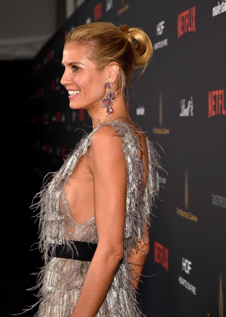 Heidi Klum at the Weinstein Company and Netflix Golden Globe Party in Beverly Hills 01/10/2016-4