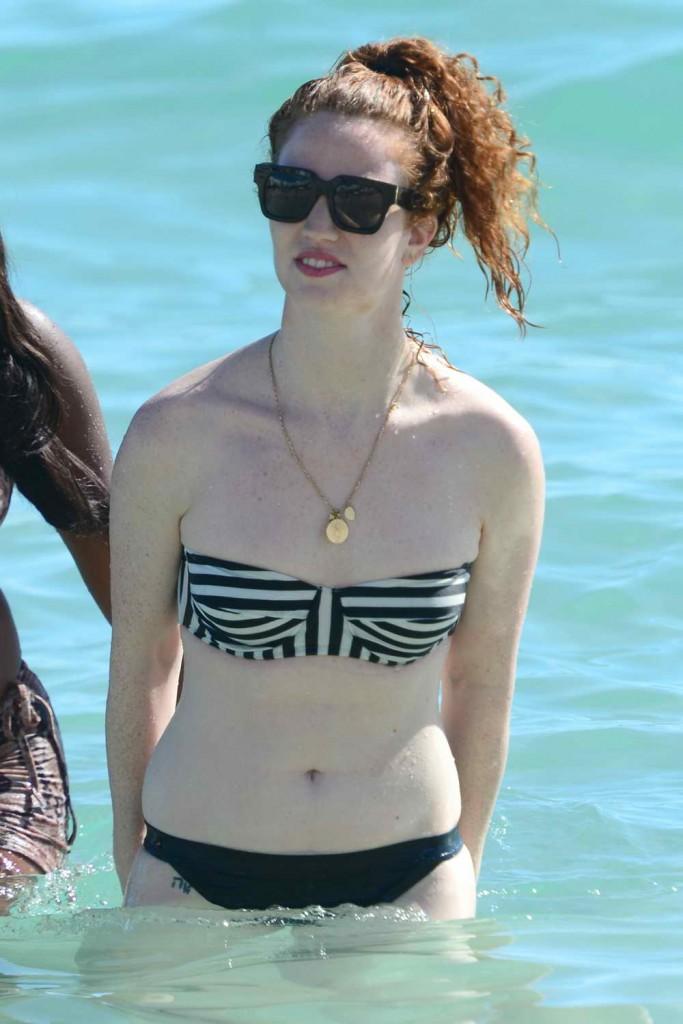 Jess Glynne in Bikini at the Beach in Miami 01/02/2016-1