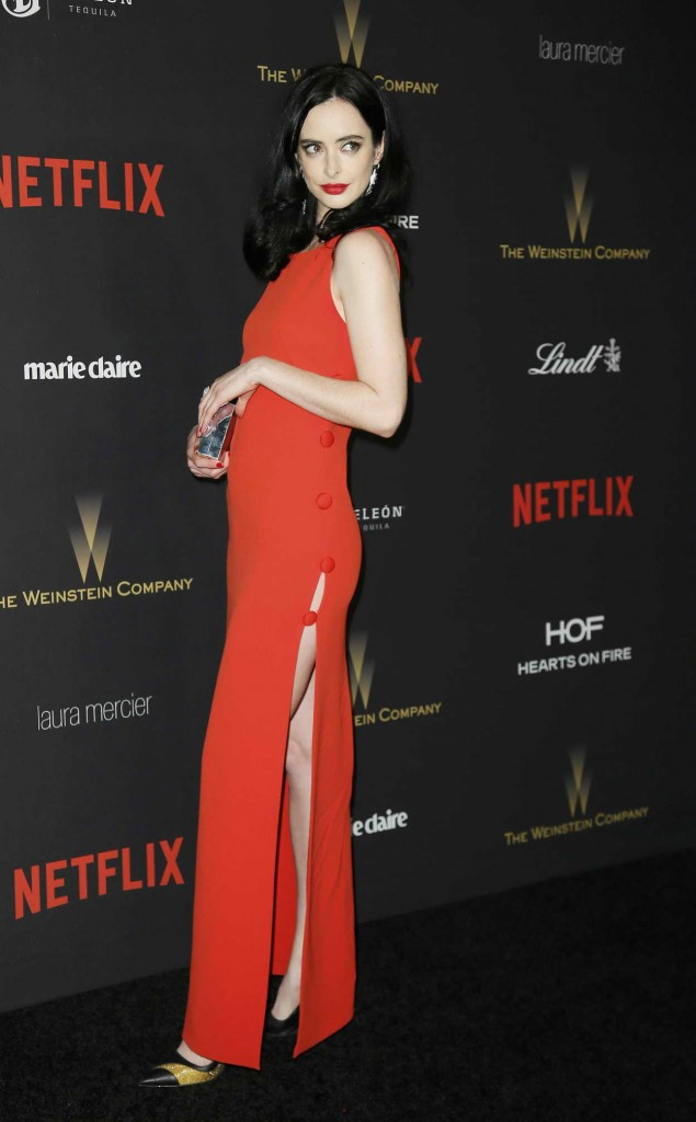Krysten Ritter at the Weinstein Company and Netflix Golden Globe Party in Beverly Hills 01/10/2016-1