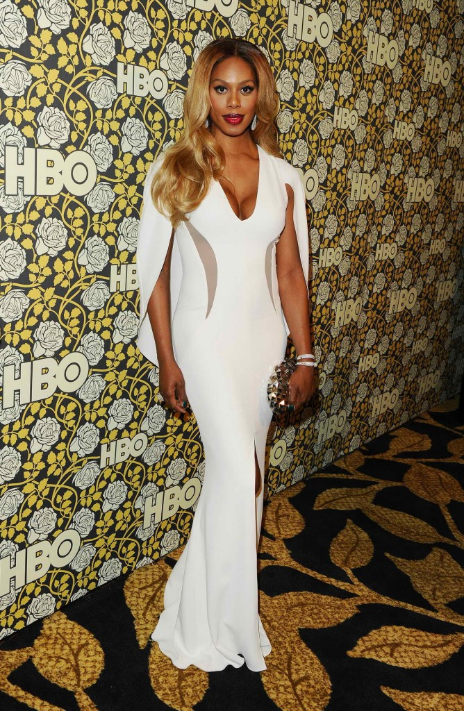Laverne Cox at HBO's Post 2016 Golden Globe Awards Party in Los Angeles 01/10/2016-1