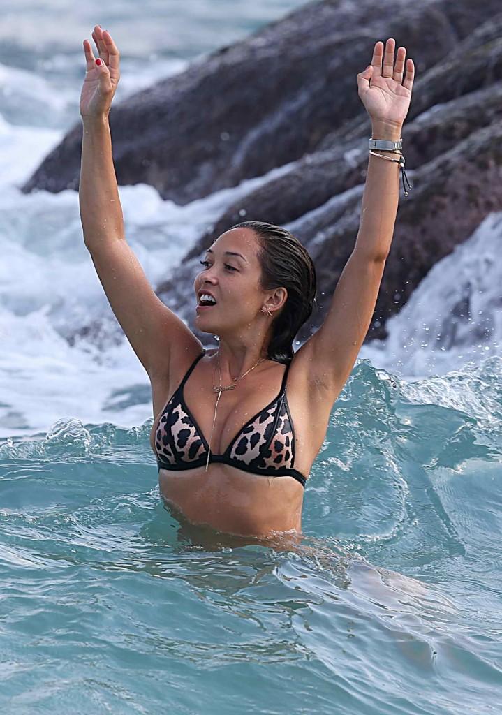 Myleene Klass in Bikini at the Beach in Thailand 01/03/2016-3