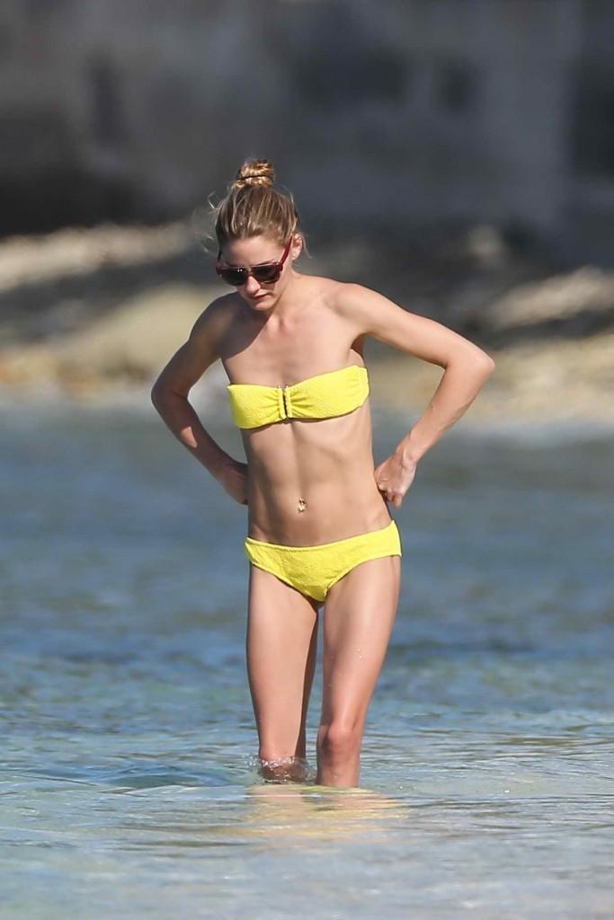 Olivia Palermo in a Yellow Bikini at the Beach in Saint Barths 01/04/2016-4