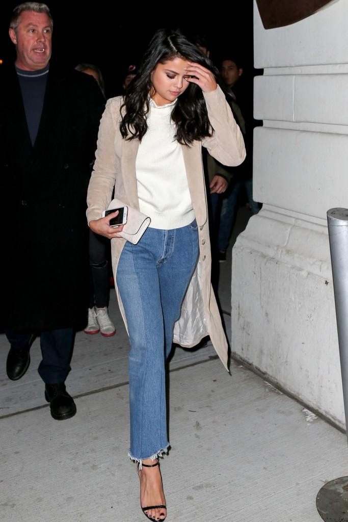Selena Gomez Leaving Nobu Restaurant in New York 01/21/2016-1
