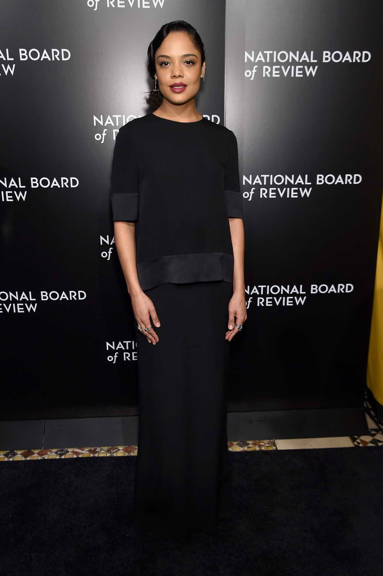 tessa thompson at national board of review awards gala in new york 01 05 2016. Black Bedroom Furniture Sets. Home Design Ideas