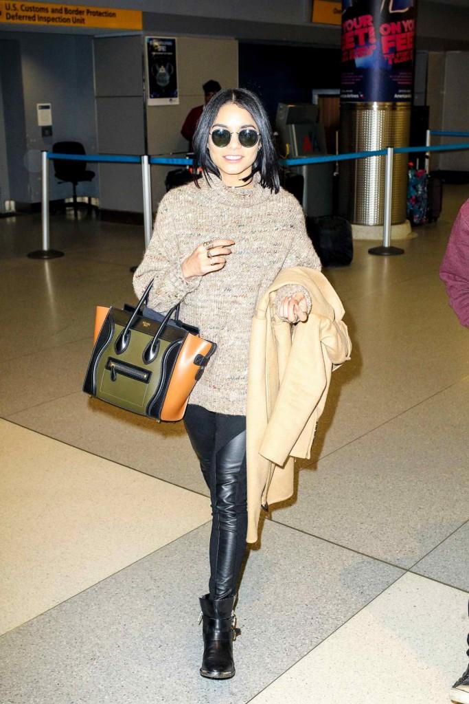 Vanessa Hudgens at JFK Airport in New York City 01/17/2016-1