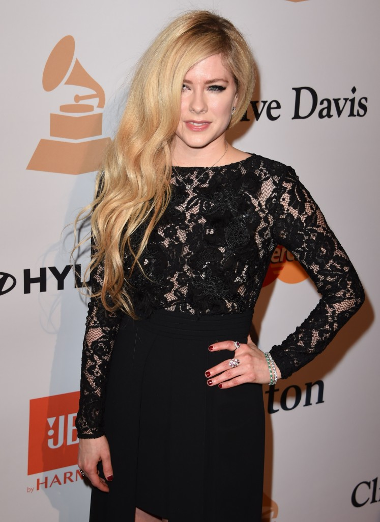 Avril Lavigne at 2016 Pre-Grammy Gala and Salute to Industry Icons Honoring Irving Azoff in Beverly Hills 02/14/2016-1