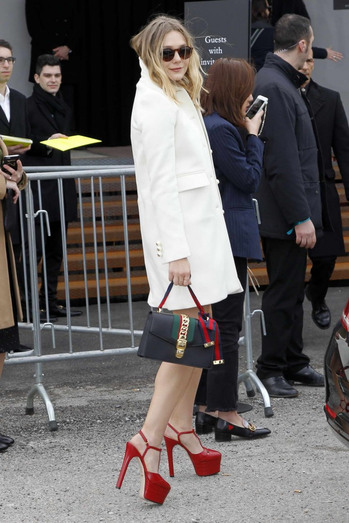 Elizabeth Olsen Arrives at the Gucci Show for Milan Fashion Week 02/24/2016-4
