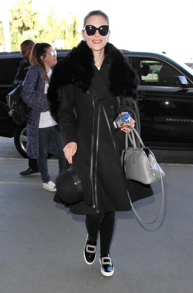 Jaime King at LAX airport in Los Angeles 02/10/2016-1
