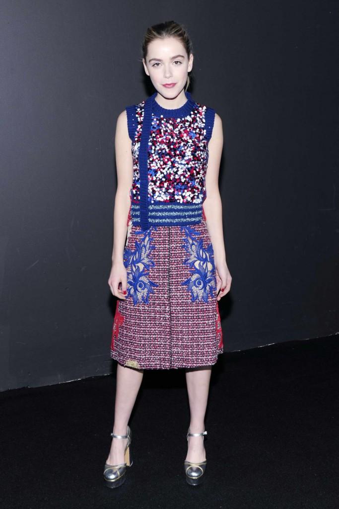 Kiernan Shipka at Marc Jacobs Show During London New York Fashion Week 02/18/2016-1