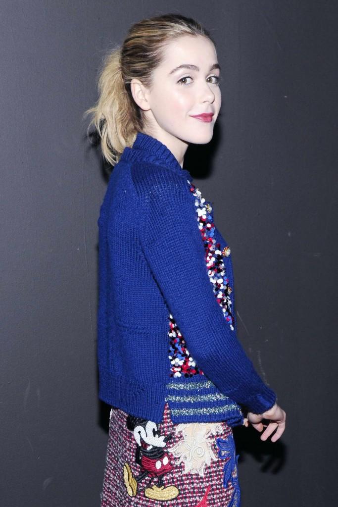 Kiernan Shipka at Marc Jacobs Show During London New York Fashion Week 02/18/2016-3