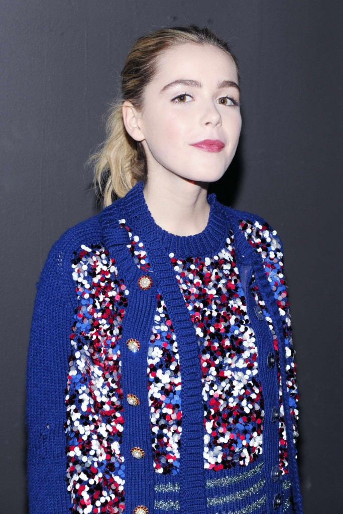 Kiernan Shipka at Marc Jacobs Show During London New York Fashion Week 02/18/2016-4