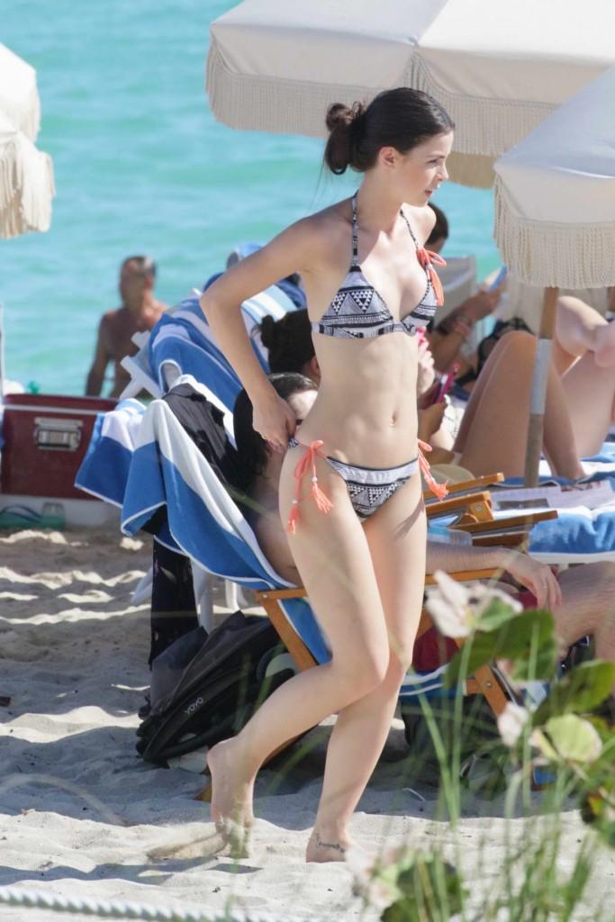 Lena Meyer-Landrut in Bikini at the Beach in Miami 01/12/2016-3