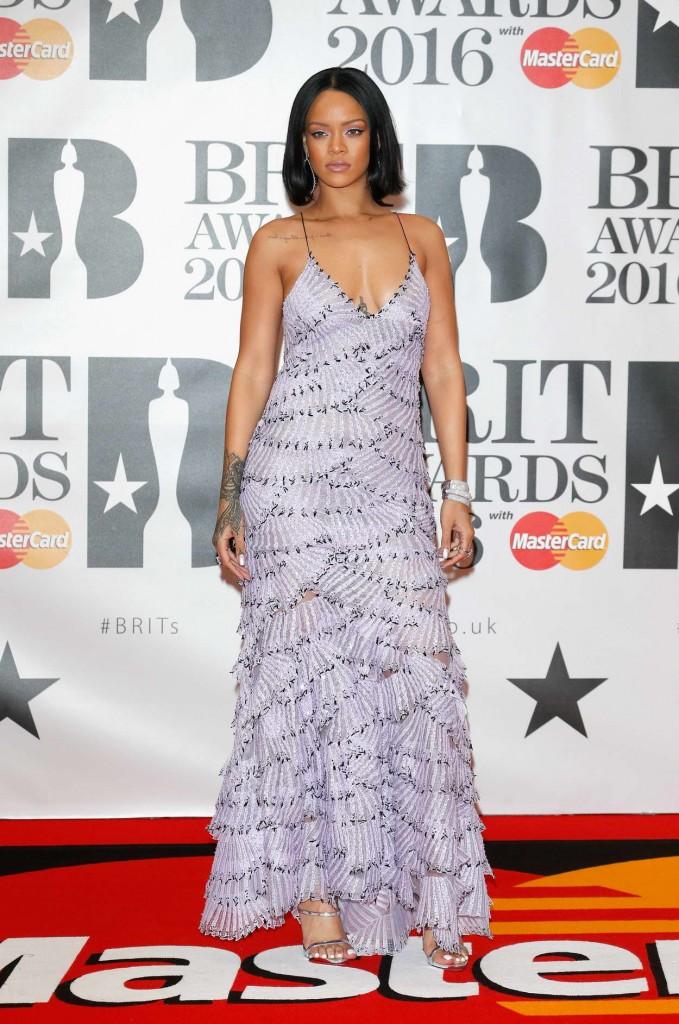 Rihanna at BRIT Awards 2016 in London 02/24/2016-1
