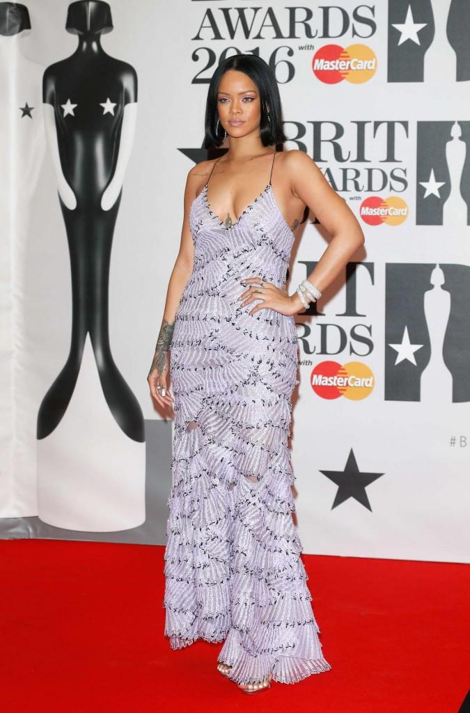 Rihanna at BRIT Awards 2016 in London 02/24/2016-2