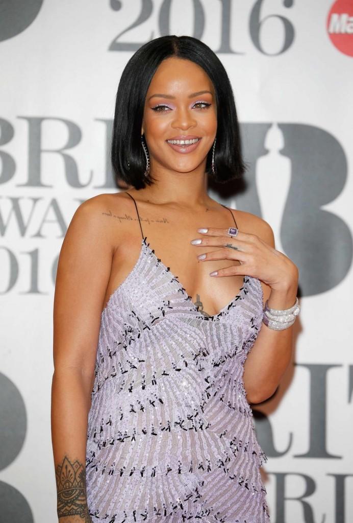 Rihanna at BRIT Awards 2016 in London 02/24/2016-3