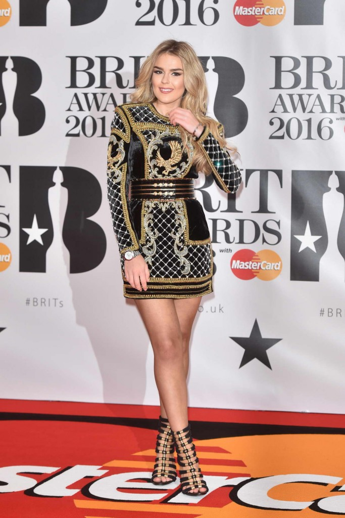 Tallia Storm at BRIT Awards 2016 in London 02/24/2016-1