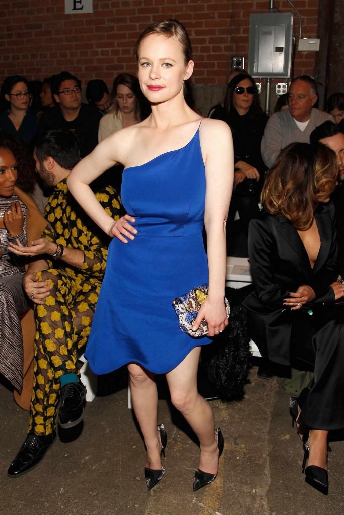 Thora Birch at Christian Siriano Fashion Show in NY 02/13/16-2