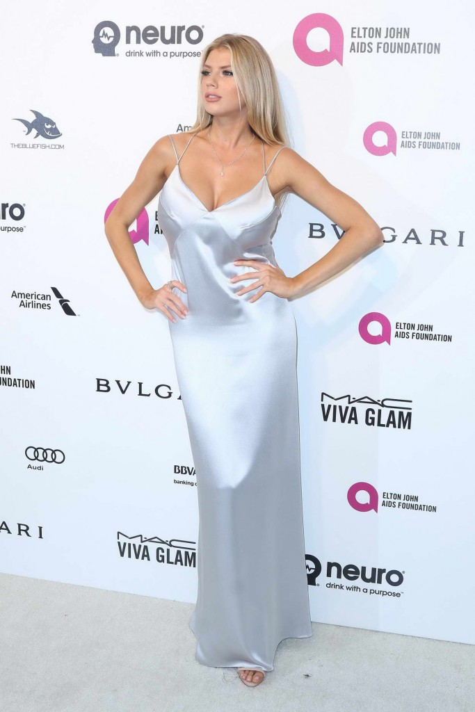 Charlotte McKinney at 24th Annual Elton John AIDS Foundation's Oscar Viewing Party in West Hollywood 02/28/2016-1
