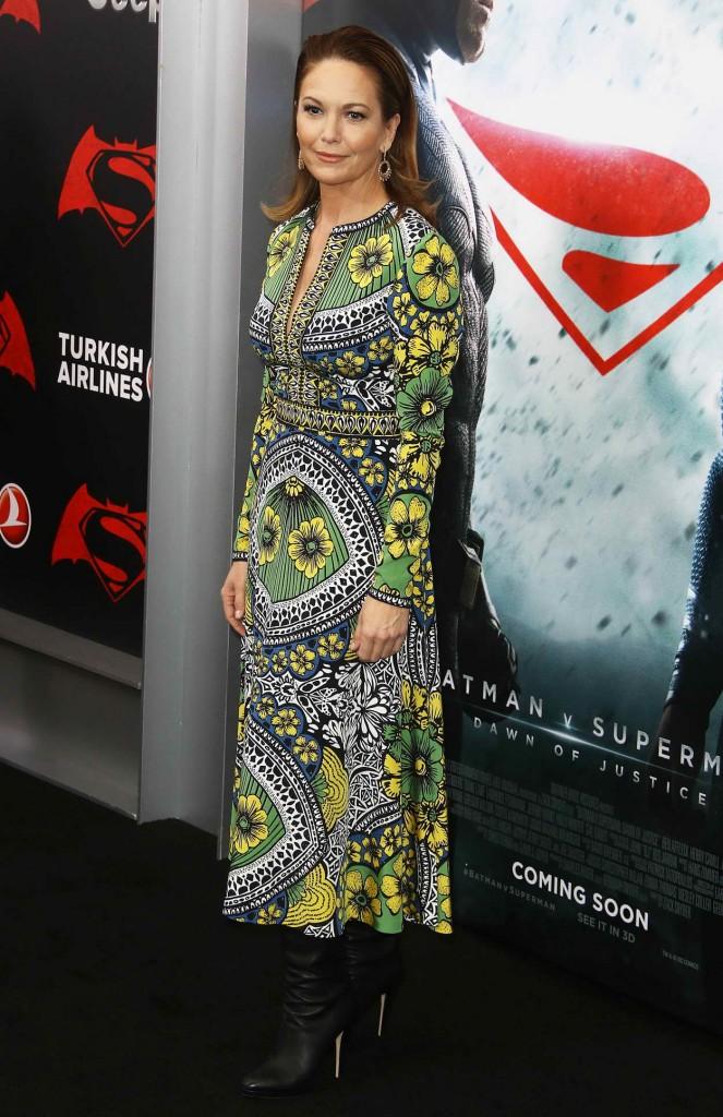 Diane Lane at Batman V Superman: Dawn Of Justice Premiere in New York City 03/20/2016-2