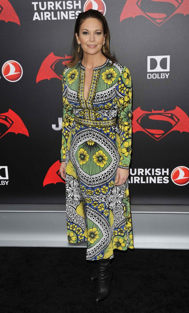 Diane Lane at Batman V Superman: Dawn Of Justice Premiere in New York City 03/20/2016-3