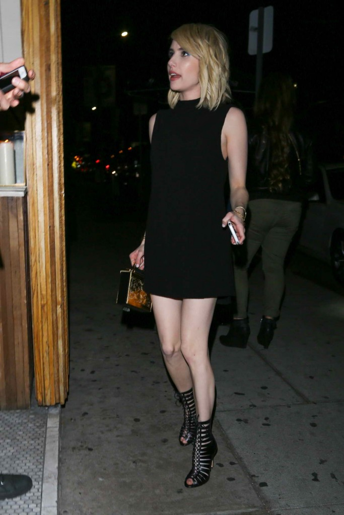Emma Roberts Arrives at The Nice Guy in West Hollywood 03/12/2016-2