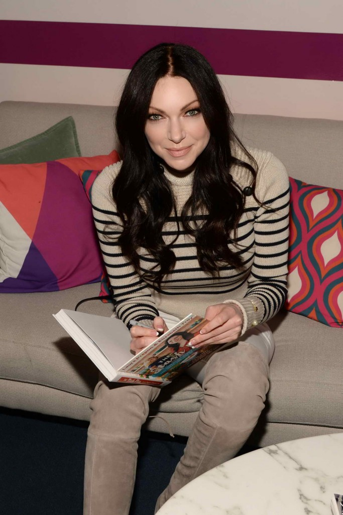 Laura Prepon Promoting Her Book Backstage at New York Live in NYC 03/01/2016-1