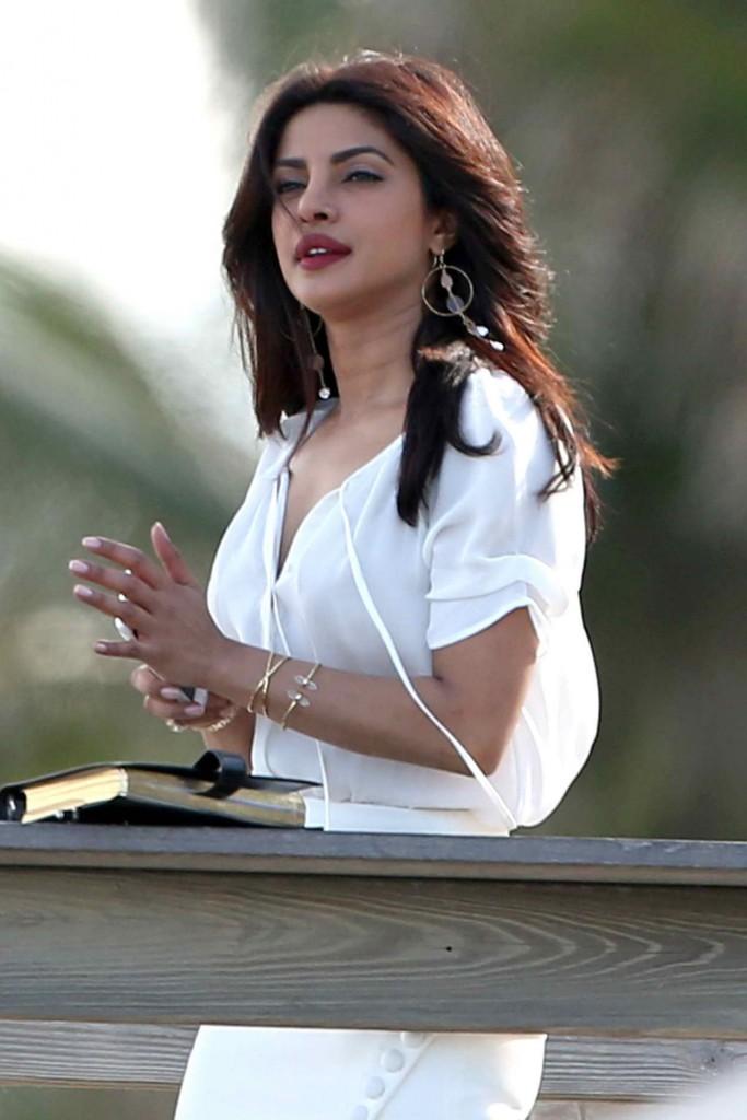 Priyanka Chopra on the Set of Baywatch in Miami 03/01/2016-1