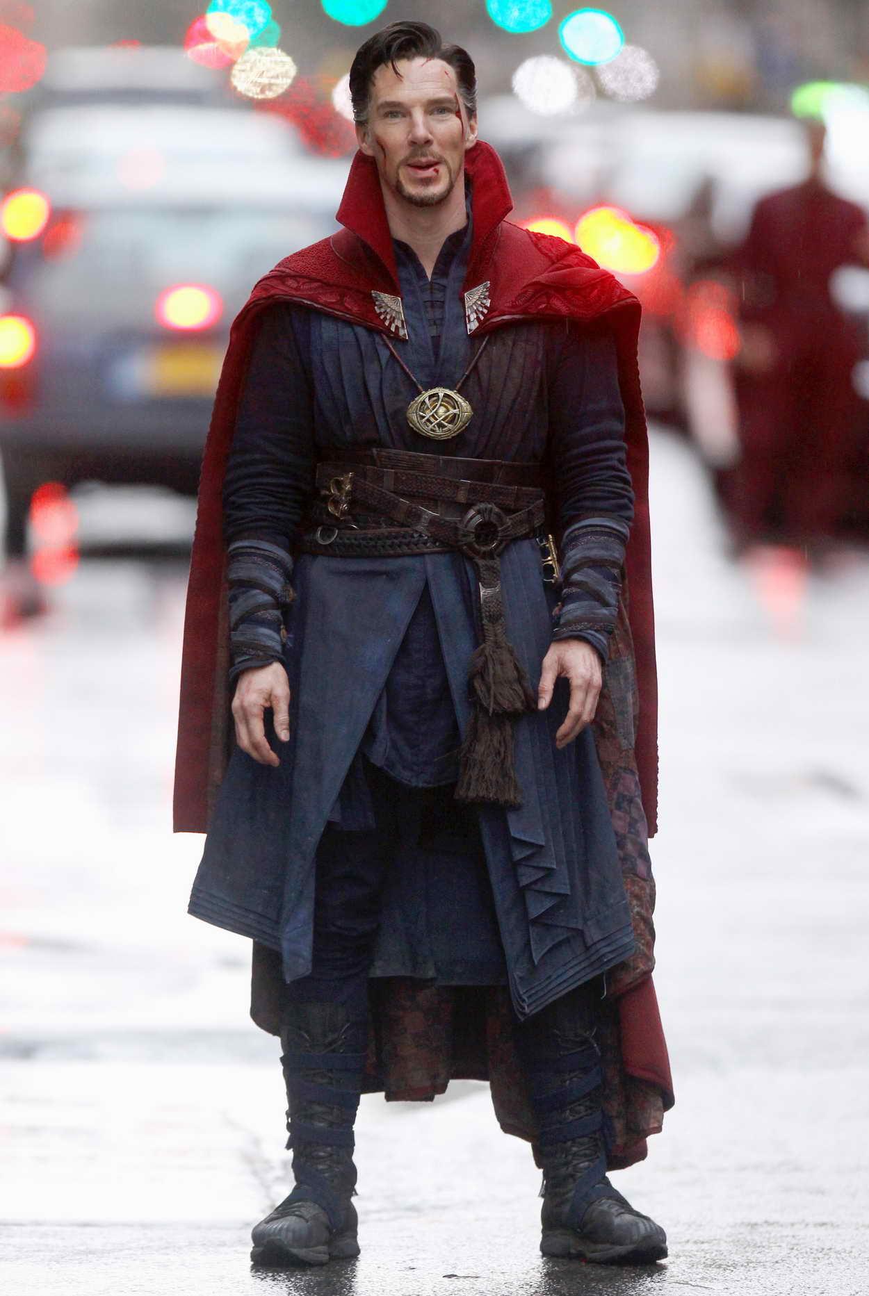 Benedict Cumberbatch on Set of Doctor Strange in Manhattan 04/02/2016 ... Benedict Cumberbatch