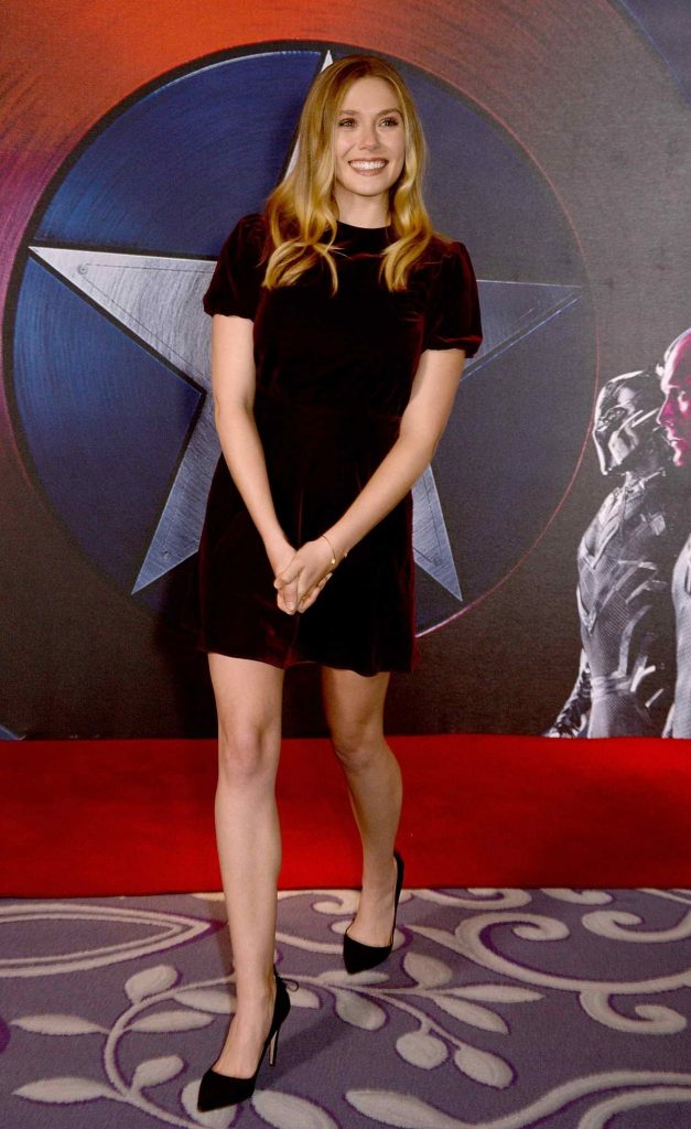 Elizabeth Olsen at the Captain America: Civil War Photocall in London 04/25/2016-2