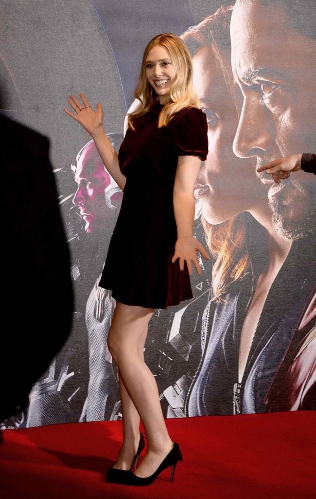 Elizabeth Olsen at the Captain America: Civil War Photocall in London 04/25/2016-3