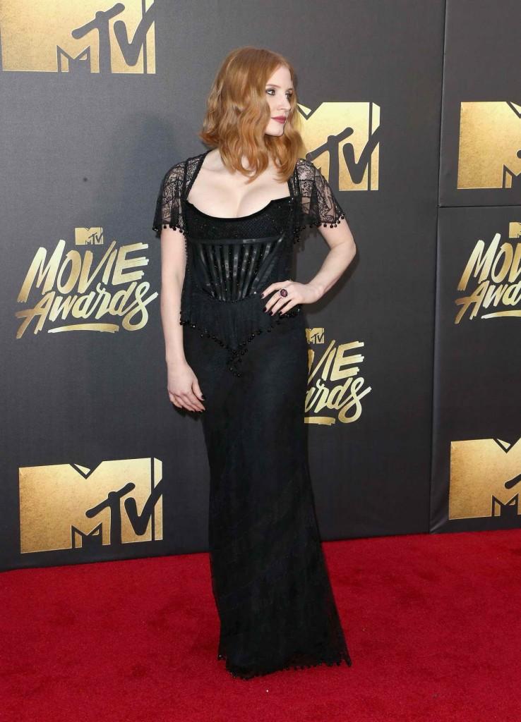 Jessica Chastain at MTV Movie Awards in Burbank 04/09/2016-4