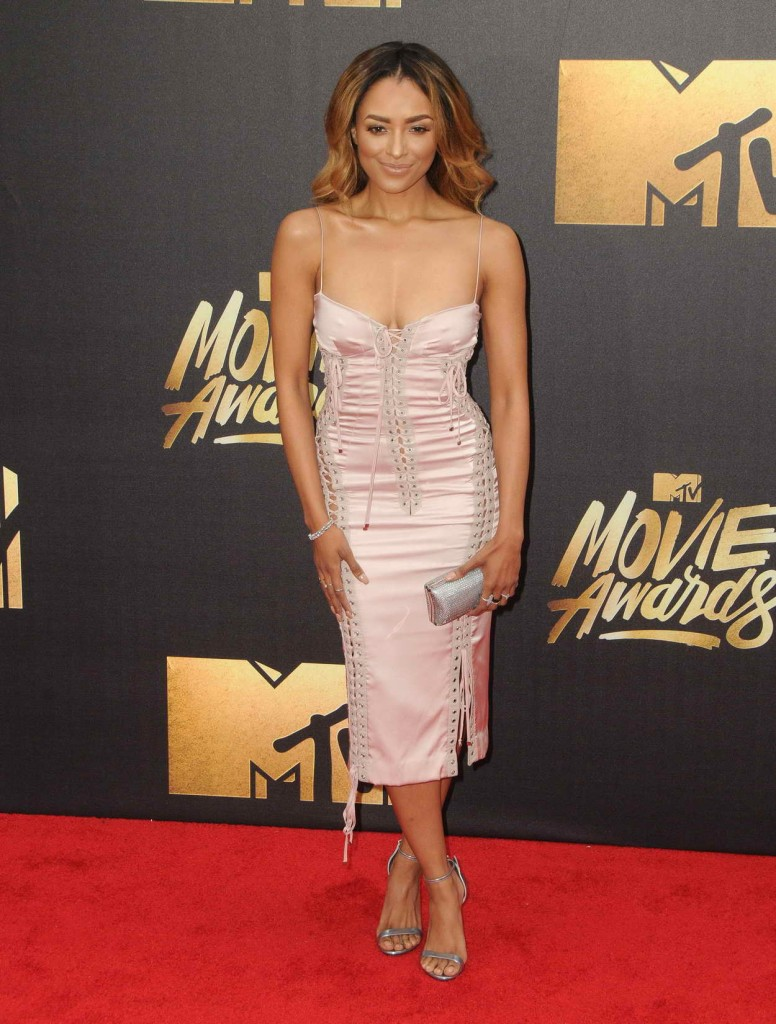 Kat Graham at MTV Movie Awards in Burbank 04/09/2016-1