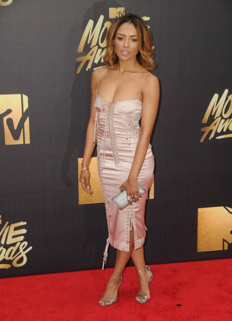 Kat Graham at MTV Movie Awards in Burbank 04/09/2016-2