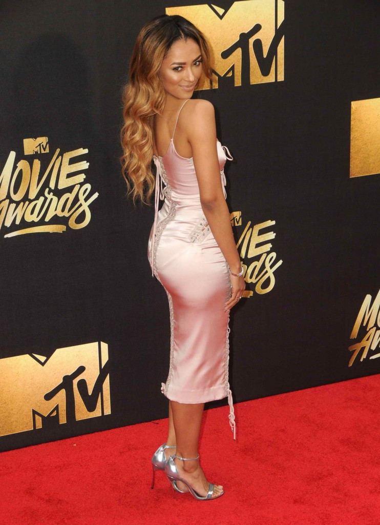 Kat Graham at MTV Movie Awards in Burbank 04/09/2016-4