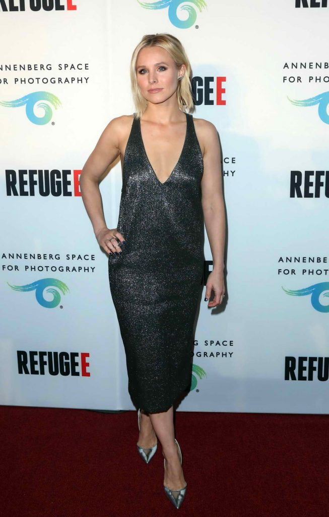 Kristen Bell at the REFUGEE Exhibit Opening in Los Angeles 04/21/2016-1